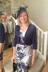 NEW Stone / Navy dress and jacket#13