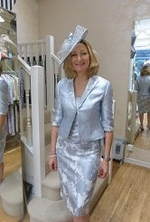 Silver grey dress and jacket#05