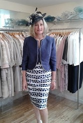 Navy/Ivory dress and jacket#80