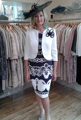 Navy/Ivory dress and jacket #81