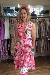 Pink Flowered Dress#84
