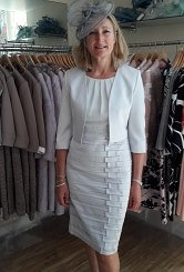 Silver dress with matching bolero#105