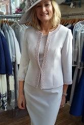 Veni Infantino silver dress and jacket
