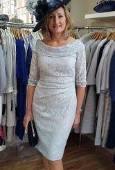 Silver lace dress #119