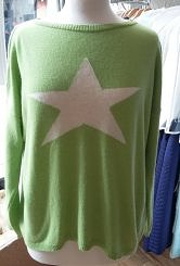 Lime/cream jumper#202