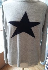 Grey/navy jumper #201