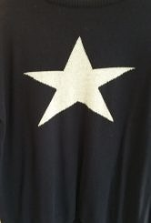 Navy/grey star jumper#200