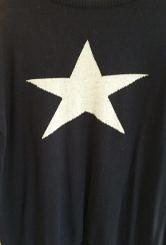 Navy/grey star jumper#200