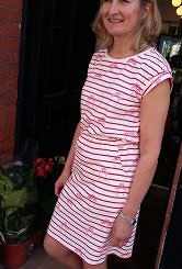 Striped flamingo dress 100% organic cotton #152