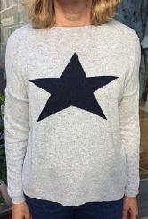 Grey/Navy star jumper
