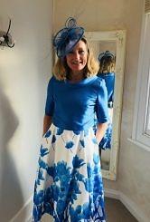 Blue/Ivory dress and jacket