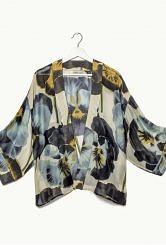100 stars kimono/pansy print