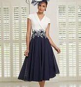 Navy/Ivory A line dress #951