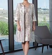 Light gold dress and coat #2025