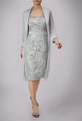 Silver dress and Chiffon Coat #2050