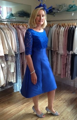Royal blue fit and flare#09