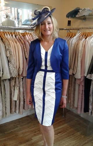 Navy/ivory dress and jacket#60