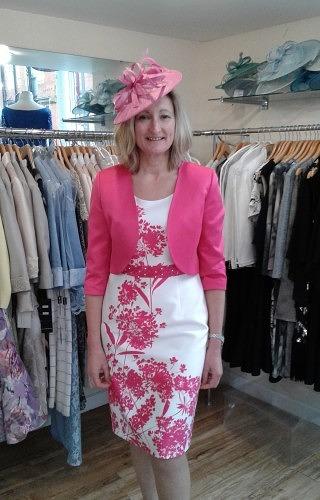 Hot pink dress and jacket#50