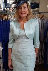 Aqua dress and bolero #115