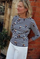 toucan striped breton top#150