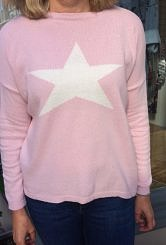 Pale Pink Star jumper