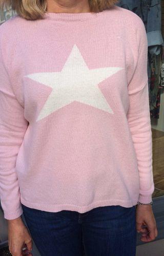 Pale Pink Star jumper