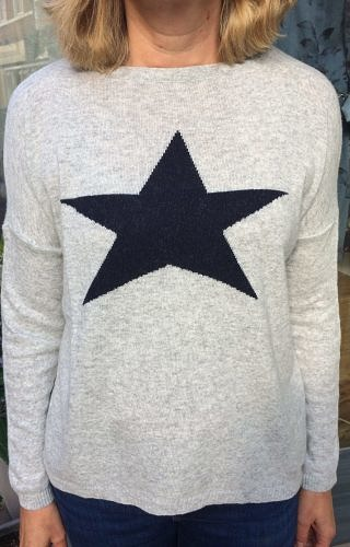 Grey/Navy star jumper