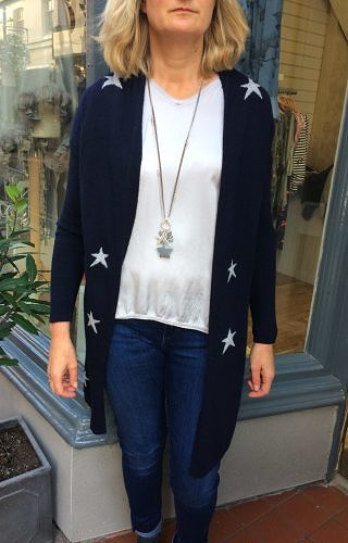 Cashmere knit star cardigan