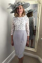 Grey/Ivory dress #333