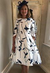 Blue/Ivory dress #400