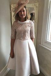 Champagne Aline dress  #428