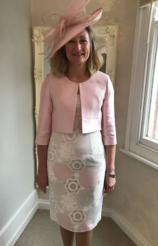 Pale pink dress and jacket #475