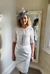 Light silver grey dress and jacket #427