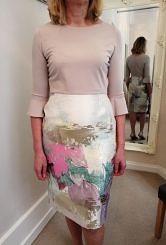 Stone and pattern dress