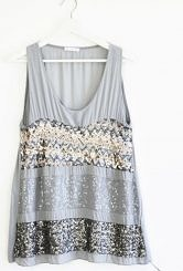 Grey sparkly top #602