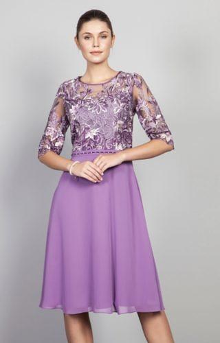 Mulberry chiffon dress #900