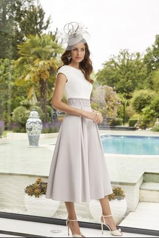 Veni infantino Ivory/Silver Aline dress