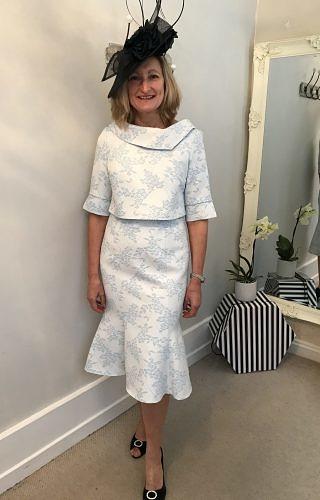 Pale Blue dress and Detachable Jacket #2021