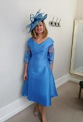 Bluebell A line dress with sleeve #3008