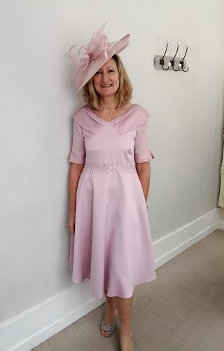 Dusky Pink A line dress #3005