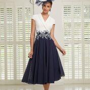 Veni Infantino Navy/Ivory Aline dress