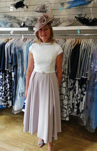 Veni Infantino Ivory/Taupe dress #4000