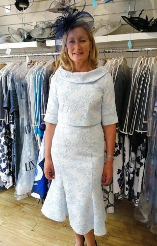 Pale Blue dress and Jacket #4100