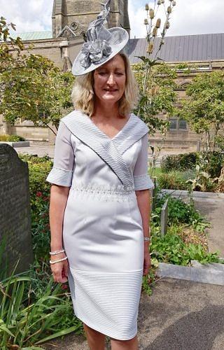 Silver grey dress # 5100